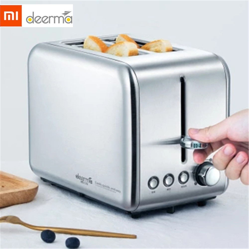 Xiaomi Deerma 2 Slice Stainless Steel Toaster Automatic Fast Heating Bread Toaster Scented Household Breakfast Maker