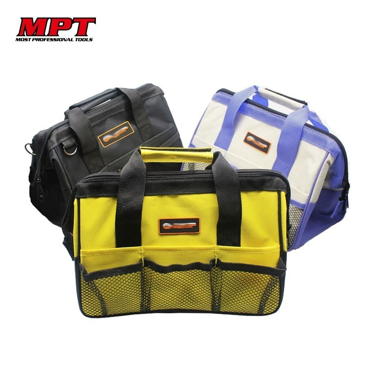 MPT Nylon Canvas Waterproof Tool Bag NO Belt Organizer Portable Double Oxford Colth Storage Bags Close Top Wide Mouth Toolkit