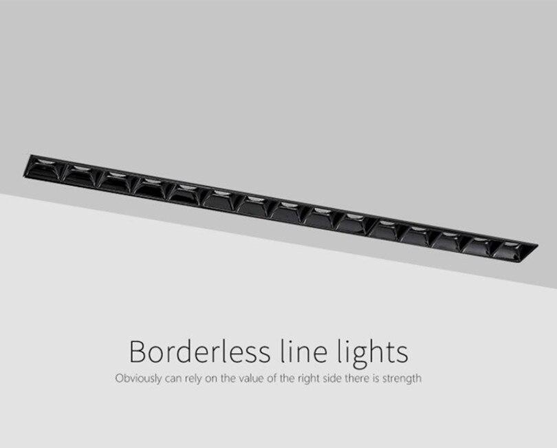 Modern 5W 10W 15W LED Downlight Frameless Line Light Bar Creative Linear Recessed Ceiling Lamps Strip