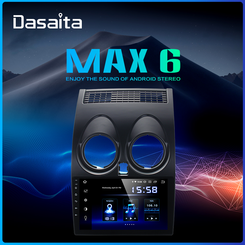 Dasaita 9 IPS Touch Screen Car Multimedia Player Android 9.0 For Nissan Qashqai 2012 2013 2014 MP3 Bluetooth MAX6