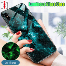 Hisomone Luminous Glass Case For iPhone 7 8 Plus Case Luxury