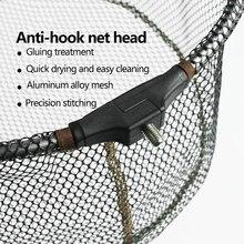 Складная рыболовная сачок рыболовная ручная сеть из алюминиевого сплава сачок для рыболовных аксессуаров антиадгезивный крючок