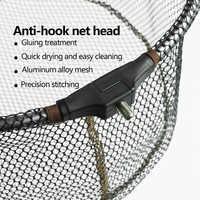 Filet de pêche pliable tête de pêche filet de pêche en alliage d'aluminium filet de Brail pour accessoires de pêche crochet Anti-adhésif