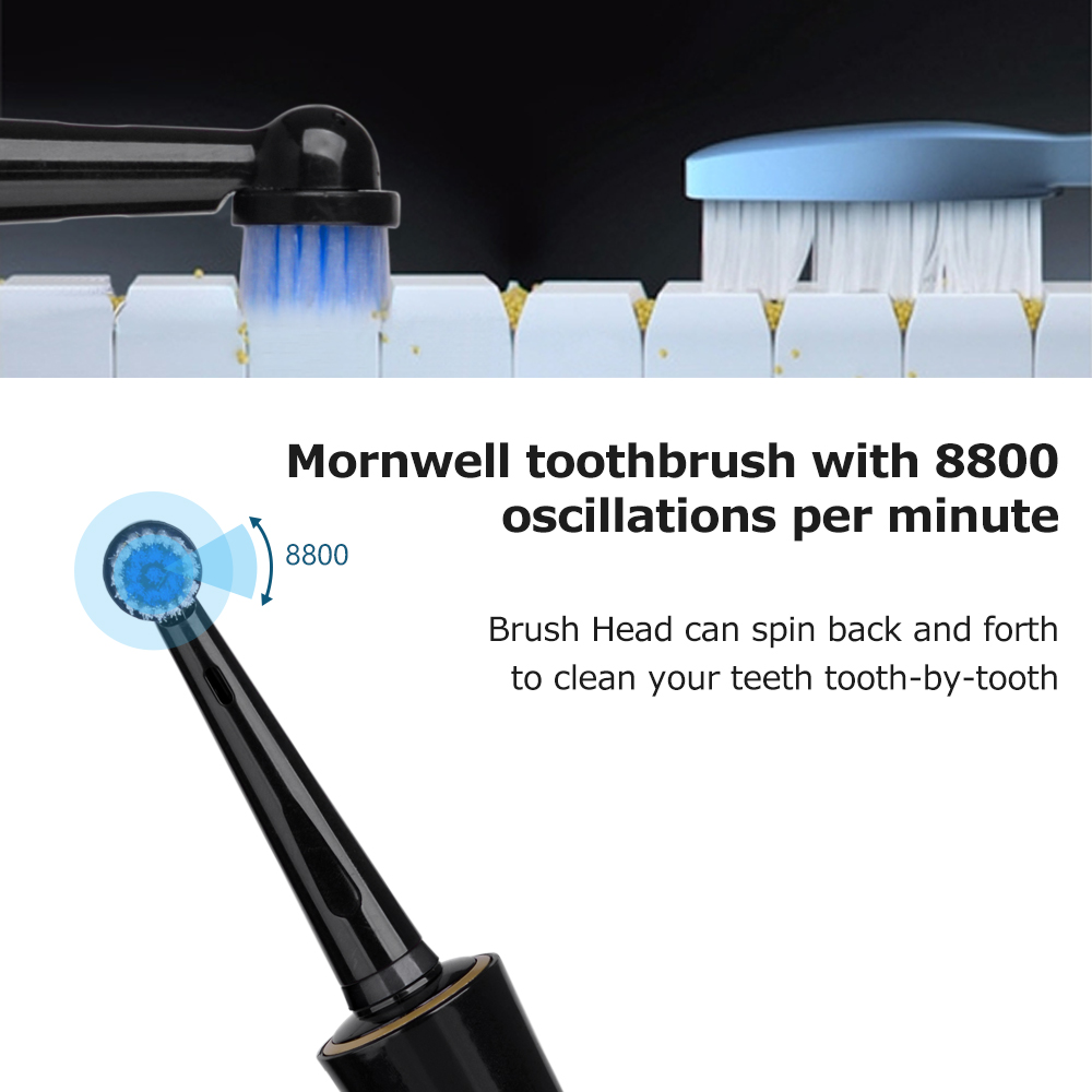 Electric Toothbrush Rotating Toothbrush USB Charge Toothbrush Travel Toothbrush Whitening Teeth for Adults Healthy Best Gift