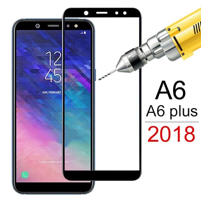الزجاج المقسى لسامسونج غالاكسي A6 2018 A6plus A600F واقي للشاشة على لسامسونج A6 زائد A6 + 6 طبقة رقيقة واقية غطاء