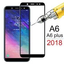 삼성 갤럭시 a6 2018 a6plus a600f 화면 보호기에 대한 강화 유리 삼성 a6 플러스 a6 + a 6 보호 필름 커버