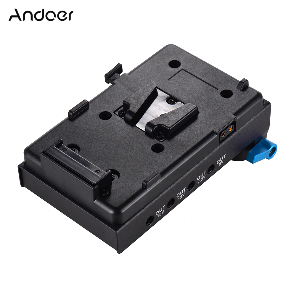 Andoer V Mount Battery Plate Adapter V lock LP E6 Dummy Battery Adapter for BMCC BMPCC
