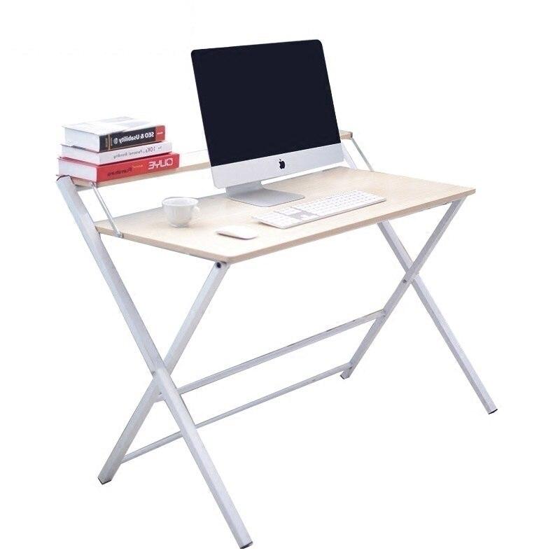 Bureau pour ordinateur debout réglable meubles bureau portable petit ordinateur portable pliant table d'écriture mesa para notebook métal