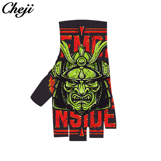US $22 6 50% OFF|CHEJI Factory Custom Cycling Gloves Mens Women's Summer  Sports Shockproof Bike Gloves Half Full Finger mtb/road Guantes Ciclismo-in
