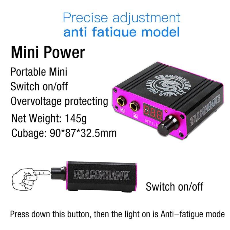 Professional Rotary Pen Tattoo Kit 6 Color Immortal Tattoo Inks Set LCD Mini Power Equipment Supplies 2