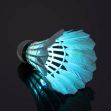 1 Pcs Dark Night Colorful LED Lighting Sport Badminton Luminous LED Badminton Feather Shuttlecock(China)