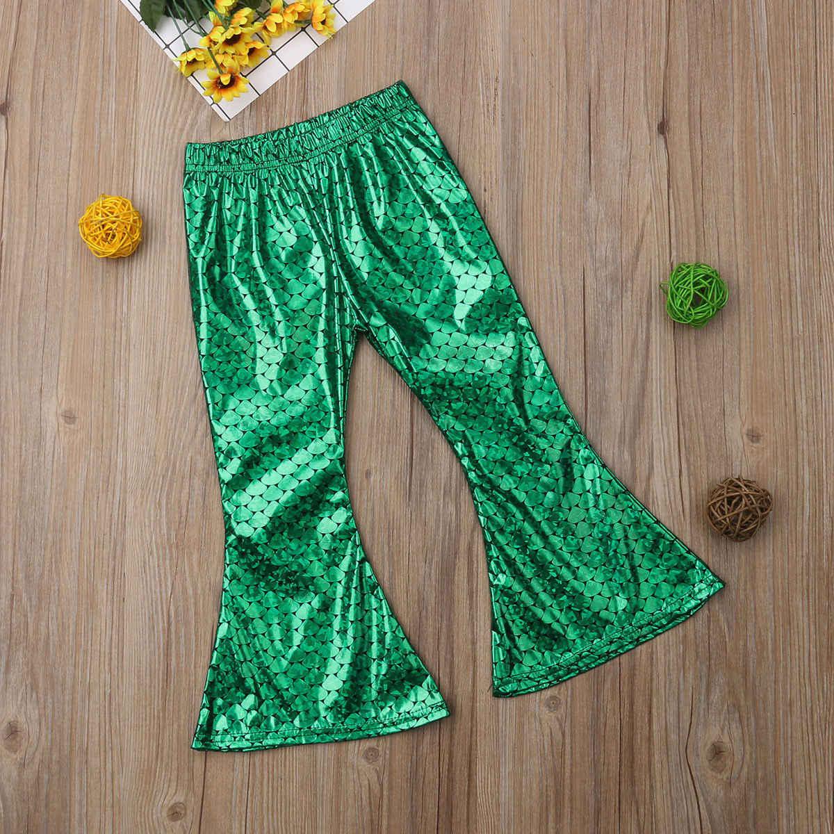 Pudcoco 2019 tout nouveau-né enfants bébé filles écorcheur sirène Leggings large jambe pantalon pantalon