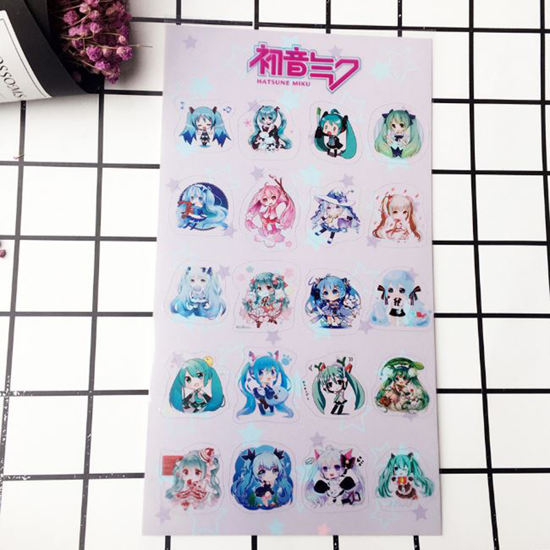 1 Pc Kawaii Hatsune Miku Decorative Stickers Scrapbooking Stick Label Diary Album Stickers Classic Toy For Kids
