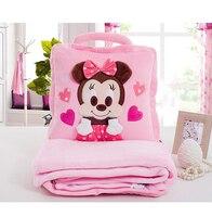 Disney Blanket Children Carton Mickey Minnie Blanket Baby Nap Blanket Summer Air Conditioning Soft Blanket