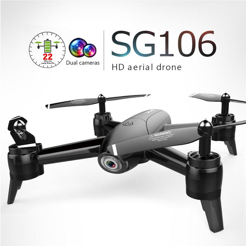 SG106 RC Drone 1080 P HD المزدوج RC طويل عمر البطارية مسار الطيران الطائرات فيديو أجهزة الاستقبال عن بعد كاميرا الوقت الحقيقي-في طائرات هليوكوبترتعمل بالتحكم عن بعد من الألعاب والهوايات على  مجموعة 1