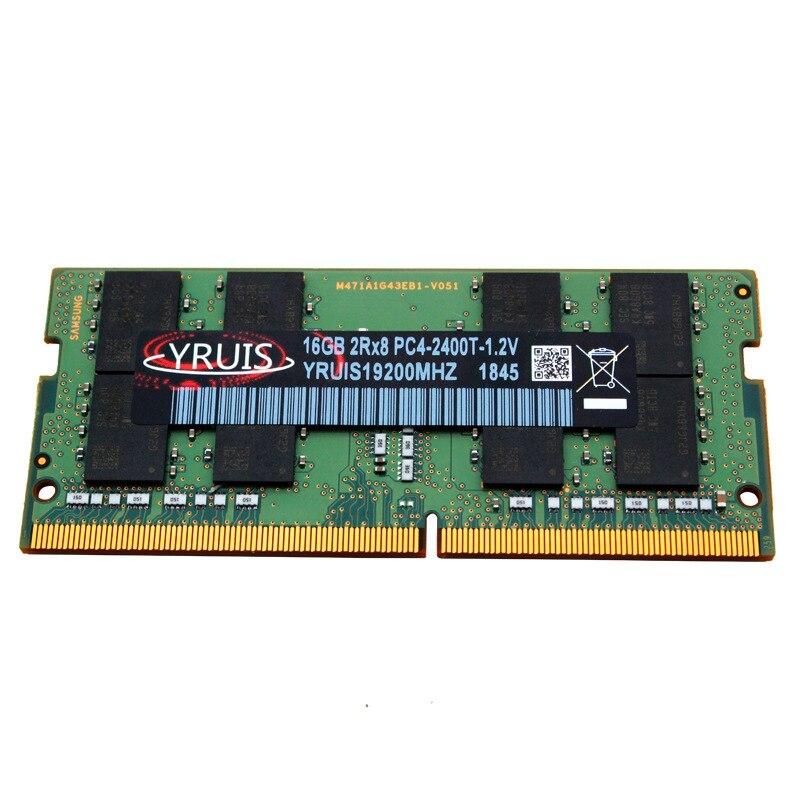 Yruis Ddr4 16 Gb 2400 Mhz 288Pin Ram Sodimm Support de mémoire pour ordinateur portable Memoria Ddr4 Notebook (1.2 V)