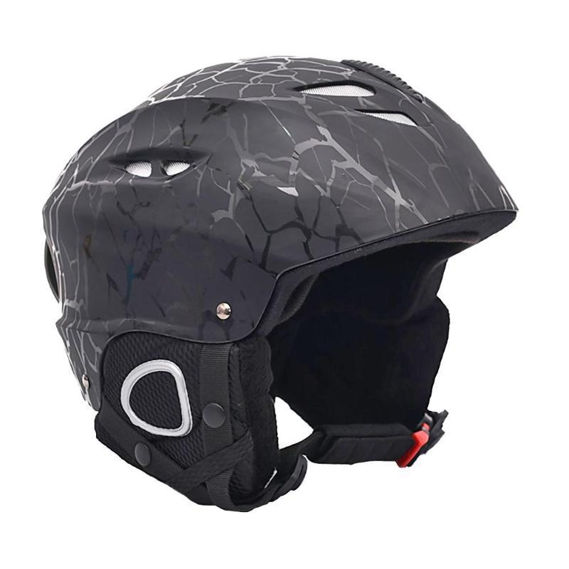 Einstellbare Skifahren Schnee Helm Sicherheit Schutz Skateboard Ski Snowboard Helm Für Erwachsene Skifahren Schutz Ausrüstungen Schwarz