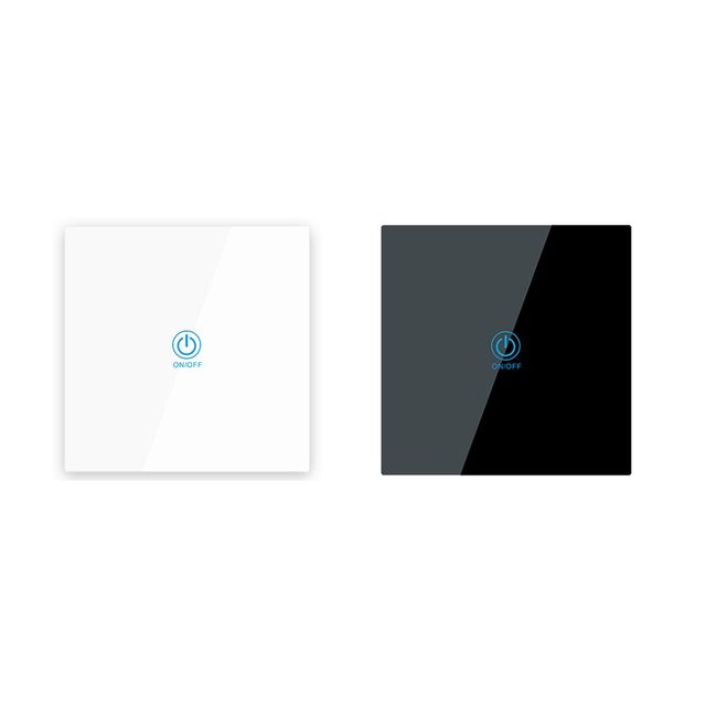 LEORY KTNNKG 1 Channel 433MHz Touching Remote Control 86 Wall Switch Wireless RF Transmitter Tempered Glass Panel