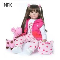 Soft Silicone Reborn Baby Dolls Reborn Baby Dolls Realistic Soft Vinyl Lifelike Dolls Girls Kids Toys Birthday Gift