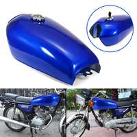 9 Liter 2.4 gal Steel Motorcycle Fuel Gas Tank with Thick Iron Cap Switch Kit For Honda CG125 Cafe Racer Motorcycle Accessories