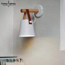 цены Wood Wall Light American Country Wall Lamp Creative Minimalist Scandinavian Cafe Iron Belt Corridor Beside Lamp Industrial Decor