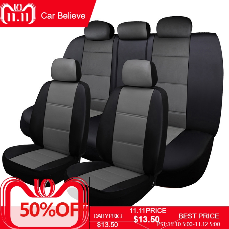 Car Believe leather car seat cover For volvo v50 v40 c30 xc90 xc60 s80 s60 s40 v70 accessories covers for vehicle seats car wind universal auto car seat cover for volvo v50 v40 c30 xc90 xc60 s80 s60 s40 v70 car accessories seat protector styling