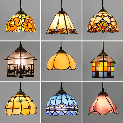 Mediterranean Turkish Baroque Stained Glass Pendant Lamp Kitchen Bedroom Balcony Entrance Corridor Lighting LED Hanging LightMediterranean Turkish Baroque Stained Glass Pendant Lamp Kitchen Bedroom Balcony Entrance Corridor Lighting LED Hanging Light