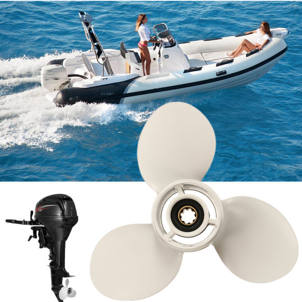 For Yamaha 9.9-15HP 63V-45945-10-EL 9-1/4 X 9 Aluminum Outboard Propeller 8 Spline Tooth Fast Hole Shot Perform Well Improve