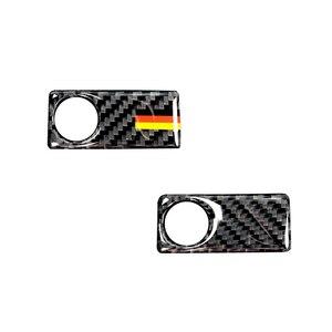 Image 1 - Dla Mercedes Benz C klasa W205 C180 C200 C300 GLC260 z włókna węglowego samochodu pasażera boczne rękawice przechowywania uchwyt skrzyni pokrywa misy