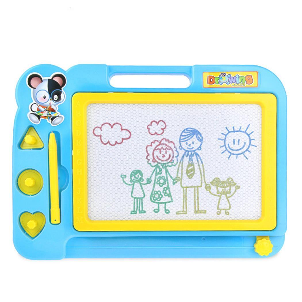 Puzzle Children Kid Magnetic Writing Painting Drawing Graffiti Board Toy 3 years old Unisex Pink Green Blue
