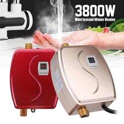 3800 W Mini Tankless Sofort Heißes Wasser Heizung Wasserhahn küche Heizung Thermostat UNS/EU Stecker Intelligente Energie Saving Wasserdicht