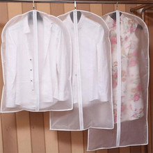 New Transparent Clothes Hanging Garment Suit Coat Dust Cover Wardrobe Storage Bag Organizer Clothing Covers(China)