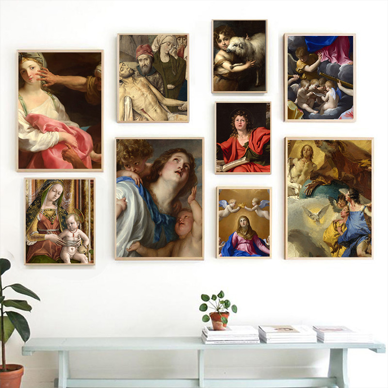 US $5.02 25% OFF|Aesthetics Baroque Renaissance Art oil painting Home Kids  Baby living Room Bedroom Decor Print Poster Picture Wall Art Canvas-in ...