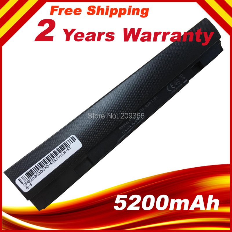 6 Cells  5200mAh Laptop Battery For Asus A31-X101 A32-X101 For EEE PC X101 X101C X101CH X101H Series