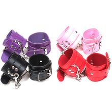 купить Sexy PU Leather Handcuffs Fetish Sex Bondage BDSM Restraints Wrist Hand Cuffs Sex Toys for Couples Adult Games for Women Men O2 по цене 247.49 рублей
