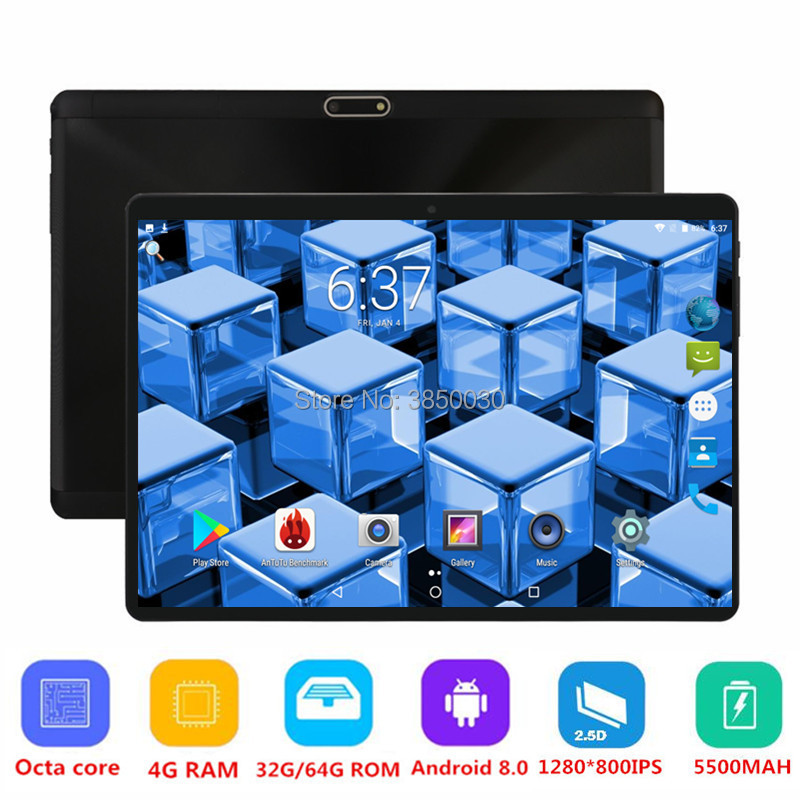 2019 New Google Play Android 8.0 OS 10 inch tablet Octa Core 4GB RAM 64GB ROM 1280*800 IPS 2.5D Glass Kids Tablets 10 10.12019 New Google Play Android 8.0 OS 10 inch tablet Octa Core 4GB RAM 64GB ROM 1280*800 IPS 2.5D Glass Kids Tablets 10 10.1