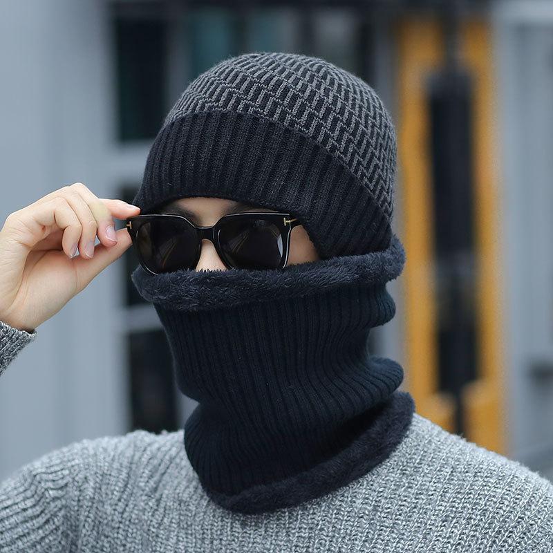 2019 New Warm Bone Knitted Scarf Balaclava Ski Mask Bonnet Femme Cap   Skullies     Beanies   Winter Hat Women Hats Caps Men Gorras