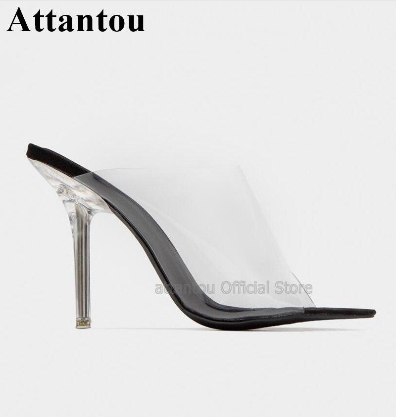 Mode Peep Toe High Heel Sandalen Frauen Klar Transparent PVC Kristall Slip Auf Kleid Schuhe Sommer Sandalen