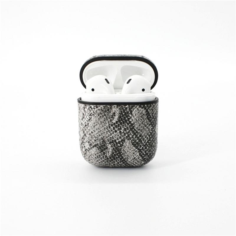 Fashion Leather PU Bluetooth Headset Cover For Airpods Iphone Protection Case Wireless Earphone