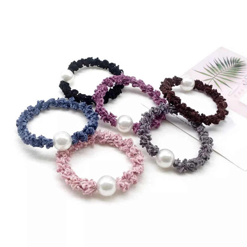 Hair Band Korean Women Girls Pearl Hair Accessories High Quality Ponytail Popular Elastic Hair Band Hair Rope 1PC Hot Sale