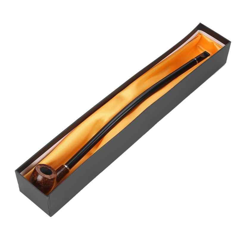 Высокое качество 15,9 дюймов длинный держатель для сигарет Изысканная Длинная коричневая ручка деревянная курительная трубка с коробкой CF5012
