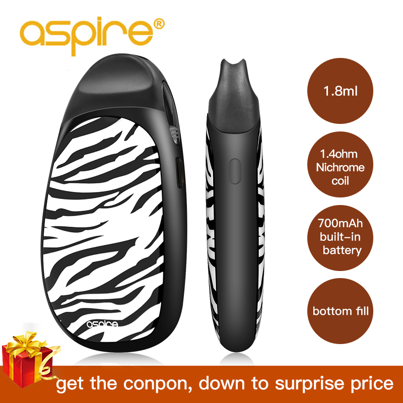 Electronic Cigarettes Kit Aspire Cobble Pod Vape 1.8ml Capacity Built-in 700mAH Battery Cartridge Vaporizador Vaper E Cigarette