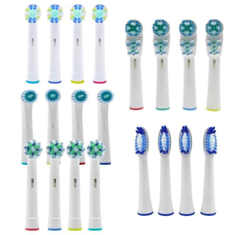 4 stks Vervangende Opzetborstels voor Mondhygiëne B Cross Floss Action Precisie Pulsonic Elektrische zachte Tand Borstels