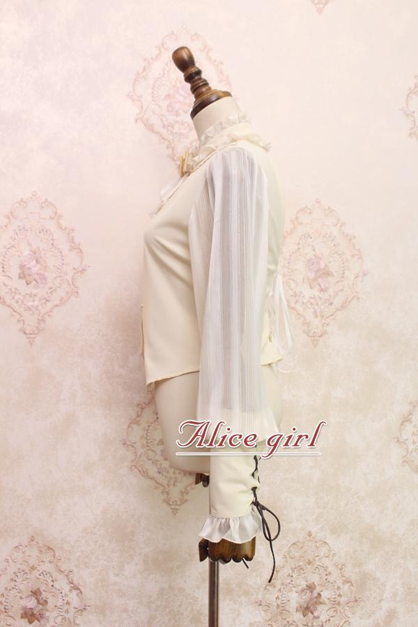 ~ Blouse De Style Alice Lanterne blanc Beige noir Long commande Manches Fille Femmes Steampunk Pré Par IvHUv
