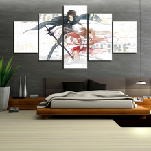 5 Panels Sword Art Online Anime Poster Pictures HD Canvas Painting for Home Decor Wall