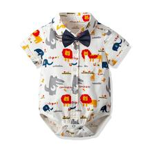 VTOM Baby Boys Rompers Newborn Summer  Infant Short Sleeve Jumpsuits Toddler Fashion Clothes XN98