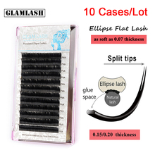 GLAMLASH 10Cases/Lot Individual  Eyelash Extensions Mink CD Curl Softer Ellipse Flat Lash Split Tips Lash Extension Cilia Cilios алешина ирина поведение потребителей учебник