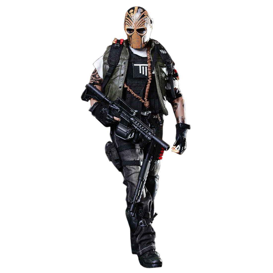 NFSTRIKE 30cm 1 6 Military Soldier Model Mercenary Movable Figure With Mask 2019 New Arrival Action