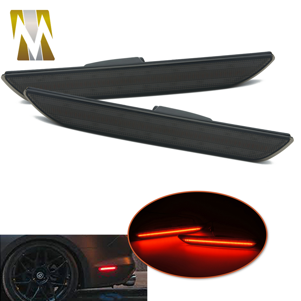 For <font><b>Mustang</b></font> Car Turn Signal Rear Side Signals Marker Lamps For Ford <font><b>Mustang</b></font> <font><b>2015</b></font> 2016 2017 2018 <font><b>LED</b></font> Side Light image