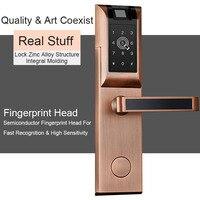 Eseye Digital Door Lock 앱 Bluetooth 암호 지문 Touch Screen 대 한 홈 아파트 Smart 전자 Lock